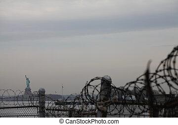 nyc , άγαλμα , ελευθερία