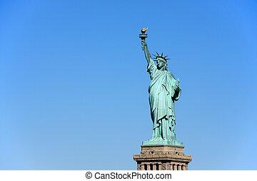 nyc , - , άγαλμα , ελευθερία