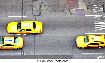 nyc, люди, место действия, улица, трафик, америка, манхеттен