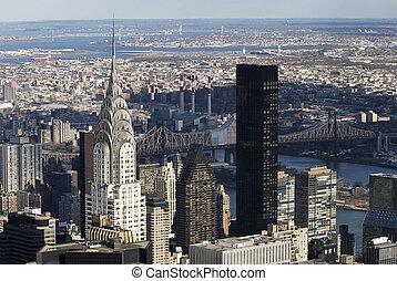 nyc, 克萊斯勒, 曼哈頓, 風景
