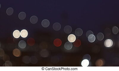 Bridge defocused abstract city night lights background