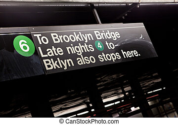 nyc, brooklyn, signo metro