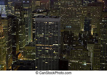 NYC Buildings at Night