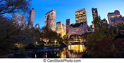 NYC Central Park at dusk