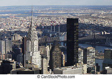 nyc, chrysler, manhattan, paisaje