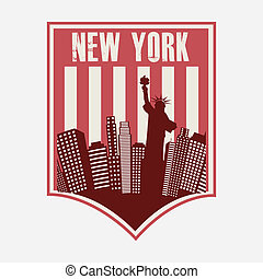 NYC design over background, vector illustration