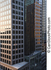 nyc, edificios., oficina