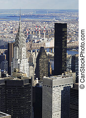 nyc, manhattan, chrysler, retrato