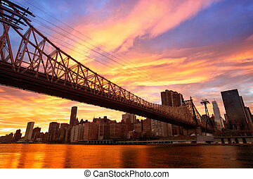 nyc, puente de queensboro