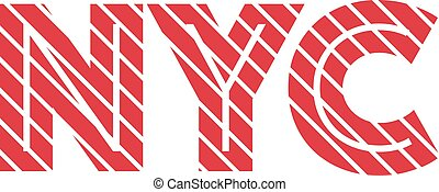 NYC sign inscription vintage colors. Vector eps10
