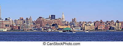 NYC SKYLINE 49 - New York City - view from across the river