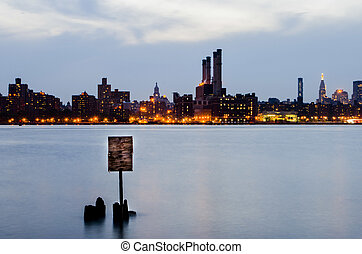nyc skyline over the hudson river