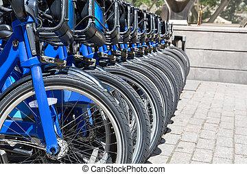 nyc, ville, vélos, loyer, stationnement
