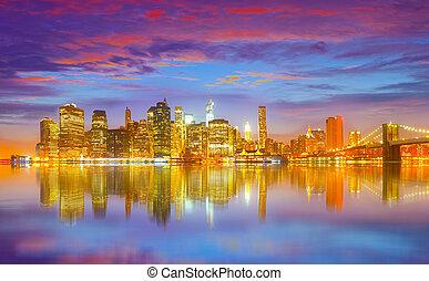 nye, byen, york, united states, panorama