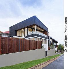 nye, moderne, exterior til hjem