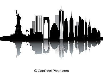 nye, skyline, york