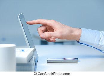 nye, teknologier, hos, den, arbejdspladsen