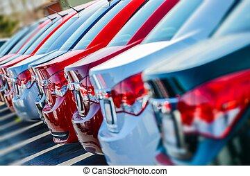 nye, varemærke, bilerne, aktie