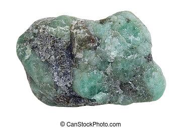 nyers, gemstone, smaragdzöld