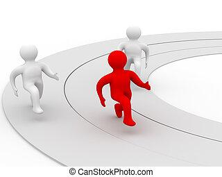 nyertes, alatt, sport, competition., elszigetelt, 3, image.