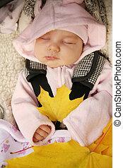 nyfödd baby, sova