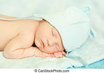 nyfödd, sova