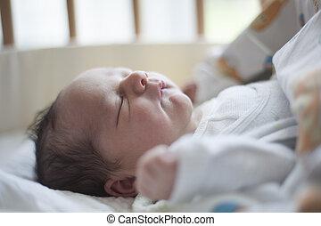 nyfødt baby, sov