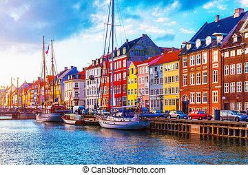 nyhavn, 哥本哈根, 丹麥