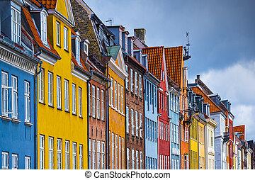 Nyhavn Buildings - Nyhavn buildings in Copenhagen, Denmark.