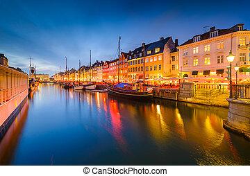 nyhavn, canal, copenhague