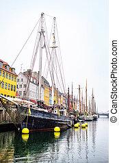nyhavn, danemark, canal, copenhague