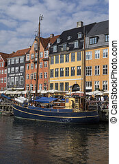 nyhavn, danemark, copenhague, -
