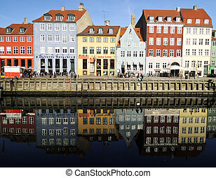 nyhavn, danemark, -, copenhague