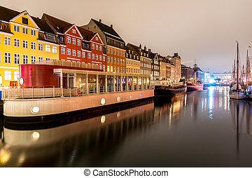 nyhavn, danemark, copenhague
