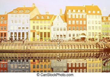 Nyhavn in Copenhagen Denmark - Famous tourist attraction