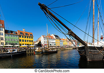 nyhavn, kanal, kopenhagen