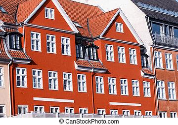 nyhavn, maisons, copenhague, coloré