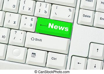 nyheterna, dator tangentbord