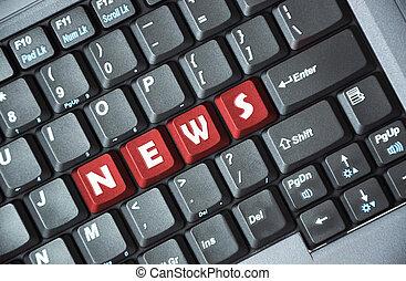 nyheterna, tangentbord