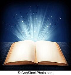 nyitott könyv, varázslatos