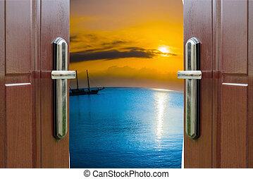 nyitott kapu, negyed