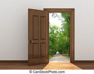 nyitott kapu