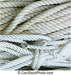 NYLON ROPE 2 - A closeup of white nylon rope