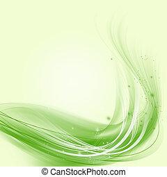 nymodig, abstrakt, bakgrund, av, grön