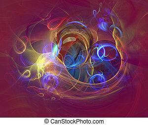 nymodig, abstrakt, bakgrund, design, med, utrymme, för, din,...