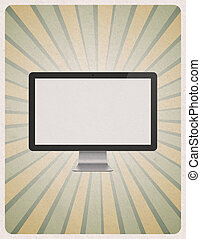 nymodig, dator övervaka, bakgrund, retro