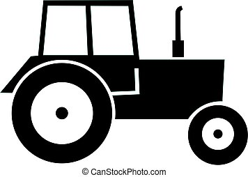 nymodig, svart, tractor.