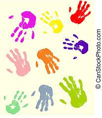 nyomtatványok, kéz