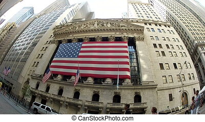 low angle view on new york trading center