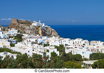 Nysiros island in Greece - Mandraki village at Nysiros...